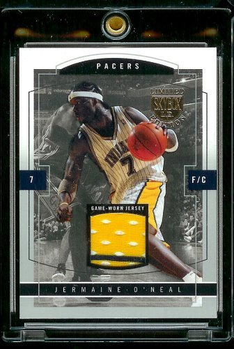 - 2003-04 Skybox L.E. Jersey Proof #20/399 Jermaine O'Neal Indiana Pacers Basketball Card - Mint Condition - Shipped In Protective Screwdown Case