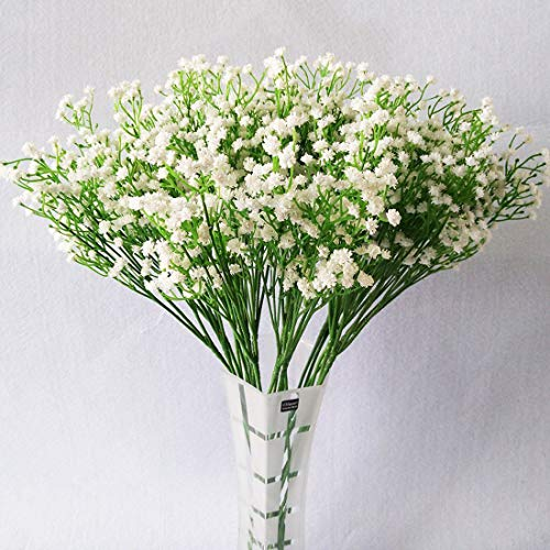 YSBER 10Pcs Baby Breath/Gypsophila Artificial Fake Silk Plants Wedding Party Decoration Real Touch Flowers DIY Home -
