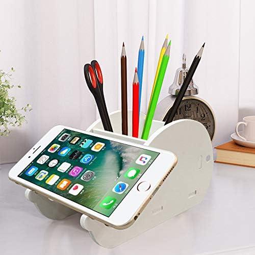 2 pz scrivania matita portapenne FineGood legno plastica bordo cancelleria multifunzionale organizzatore con telefono cellulare ufficio Supporto per adulti e bambini