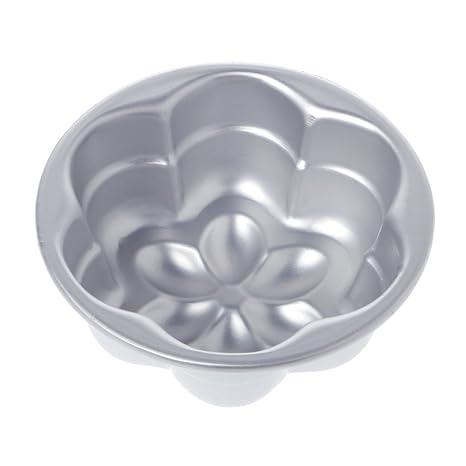 Molde de aluminio para tartas con forma de flor, molde para hornear, bandeja antiadherente