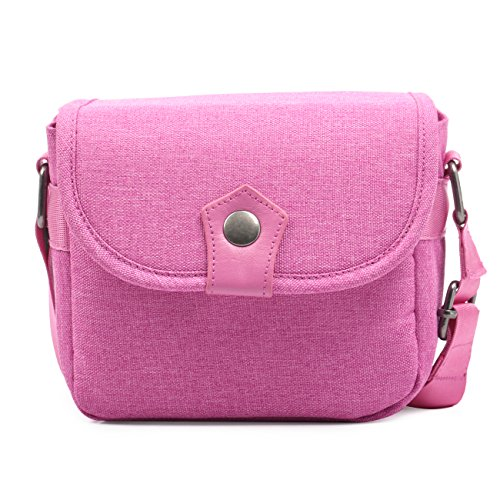 TARION Case for Fujifilm Instax Mini Camera Shoulder Bag for MINI25/MINI7c/MINI9/MINI90/MINI8/MINI7s/wide300/mini70 Fashion Girl Lady Deep Pink ()