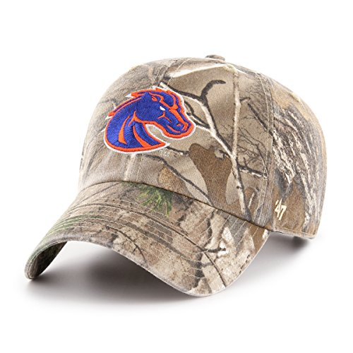 '47 NCAA Boise State Broncos Adult Clean Up Realtree Adjustable Hat, One Size, Realtree Camo - Broncos Boise State Hats