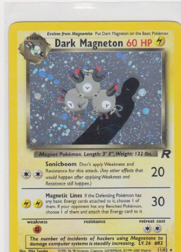 Pokemon - Team Rocket - Holofoil - Dark Magneton - (82 Team Rocket Pokemon Card)