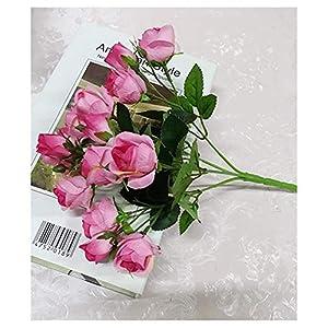 Artificial Flowers 4 Bundle Fake Flowers Silk Artificial Roses Bridal Wedding Bouquet for Home Garden Party Wedding Decoration 2