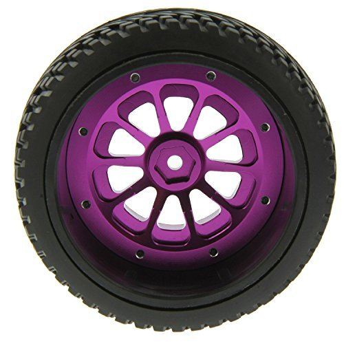 GPM 10 Spoke Wheel / Tire Set F / R - Purple for 1:10 Slash 4X4 + Other TRX Models [parallel import -