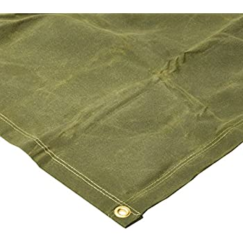 Brown Mold and Mildew Resistant Tarp Nation TCN12 Water 10X12 18oz Heavy Duty Canvas Tarp with Grommets