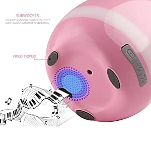 Smart Music Flowerpot Valentine's Day Gifts, ZONV Touch-singing Plant Pots Piano Music Playing with Colorful LED Night Light and Rechargeable Wireless Bluetooth Speaker for Office Home Decor (Pink)