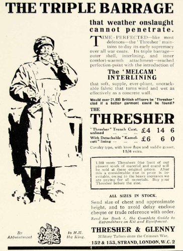1918-ad-triple-barrage-thresher-glenny-london-rain-coat-jacket-melcam-lining-man-original-print-ad