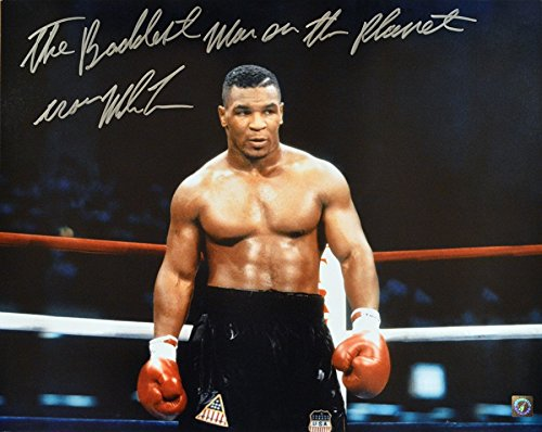 Mike Tyson Signed 16x20 Photo Coming Out Of Corner