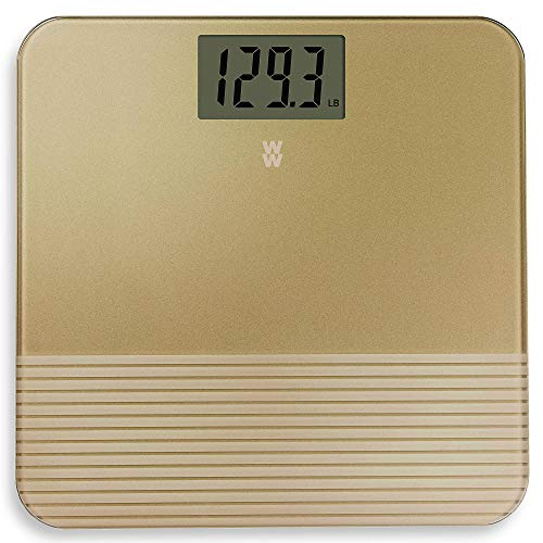 WW333 Textured Gold Glass Digital Bathroom Scale