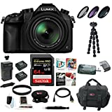Panasonic LUMIX DMC-FZ1000 16X Long Zoom Digital Camera (Black) with 64GB Deluxe Accessory Bundle