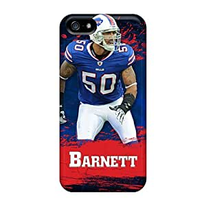 Scratch Protection Hard Phone Case For Iphone 5/5s (IJI14888huen) Custom Vivid Buffalo Bills Pattern