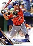 2016 Topps #317 Jose Altuve Houston Astros Baseball Card in Protective Screwdown Display Case