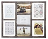 Gallery Solutions Rustic Greywash 7 Opening Collage Float Picture Frame