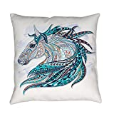 Royal Lion Burlap Suede or Woven Throw Pillow Maverick Patterned Horse - Woven, 20 Inch
