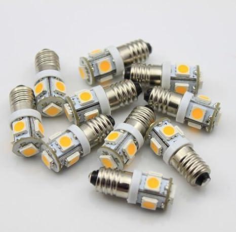 Volt E10 Dc Lampel V 5 Vélo Culot Ac À X 6 Blanc Smd Ampoule Chaud Vis Led 10 W9HE2IDY