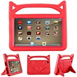 F ir e 7 2017 Case, F ir e 7 2015 Case,ANTIKE Shockproof Light Weight Handle Kids Friendly Case for A ma zon K indle F ir e 7 2017 Tablet (7th Generation, 2017 Release)(red)