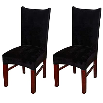 Amazon Com Smiry Velvet Stretch Dining Room Chair Covers Soft