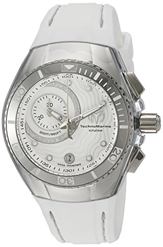 Technomarine Women's TM-114032 Cruise One Analog Display Swiss Quartz White (Cruise Chrono Watch)