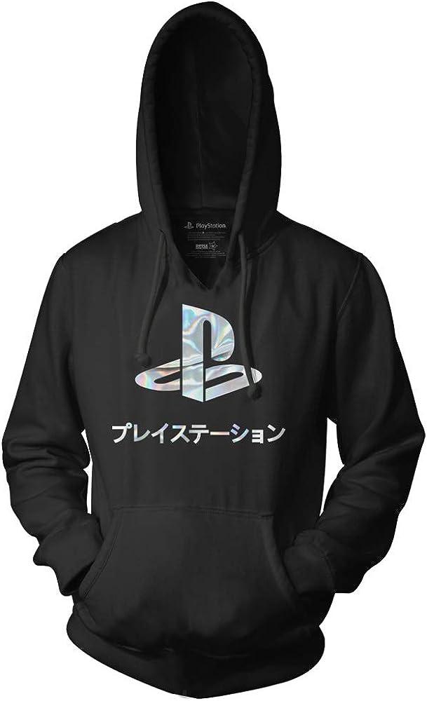Playstation Logo Foil Gamer Adult Pullover Fleece Hoodie