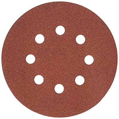 PORTER-CABLE 735801225 5-Inch 8-Hole Hook and Loop 120 Grit Sanding Discs (25-Pack)