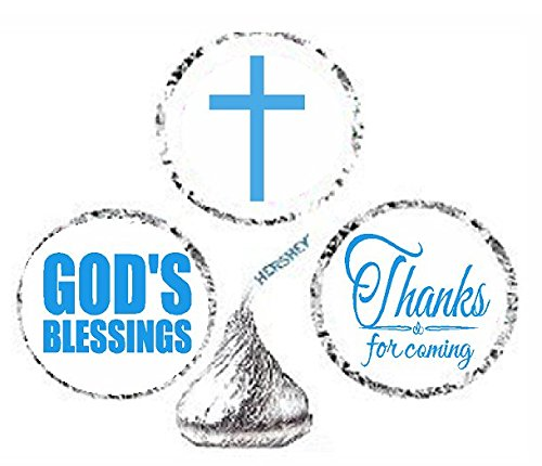 Blue Cakesupplyshop Item#966y Labels 216 First Holy Communion Party Favor Hersheys Kisses Stickers