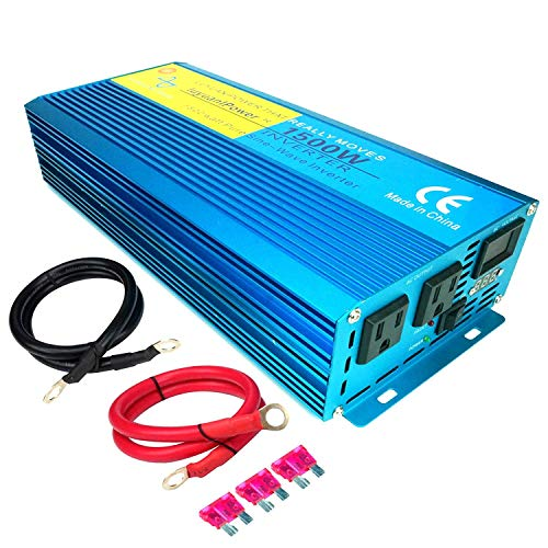 LVYUAN Car Caravan RV Camping Boat 1500W / 3000W (Peak) Pure Sine Wave Power Inverter DC 12V Inverter Soft Start 12V DC to AC 110V DC 12V Inverter Converter with LCD Display
