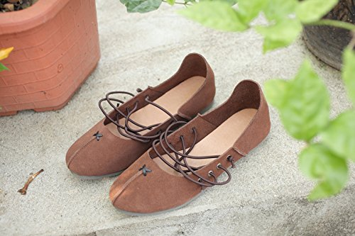 Shoes fatta lederschuhe Ballet scarpe 42 mano a fondo scarpe Morbido wU1qI6
