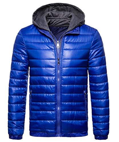 Blu Caldo Cappotto Tuta Inverno Con Cappuccio Uomini Gocgt Del Packable A Sportiva Puffer Degli Leggero aRqPBHxH