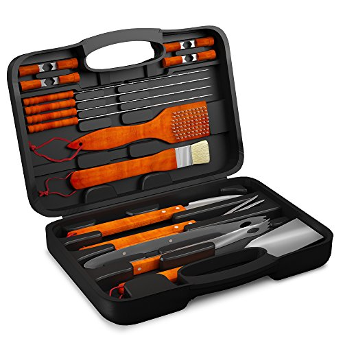 Find Discount 18PCS BBQ Grill Accessories Tool Set - Stainless Steel Utensils with Storage Case - Ba...