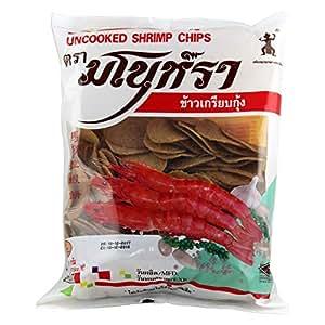 Thai World Manora Unfried Shrimp Chips, 500 gm