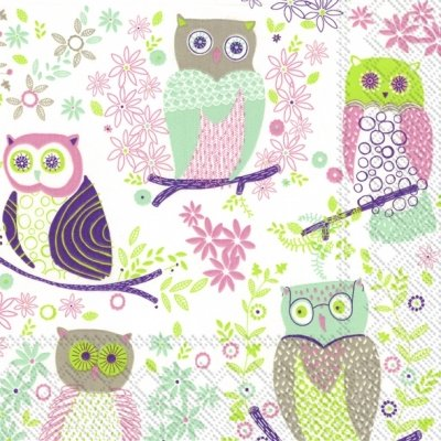 Ideal Home Range  Jolly Owls  Paper Napkins