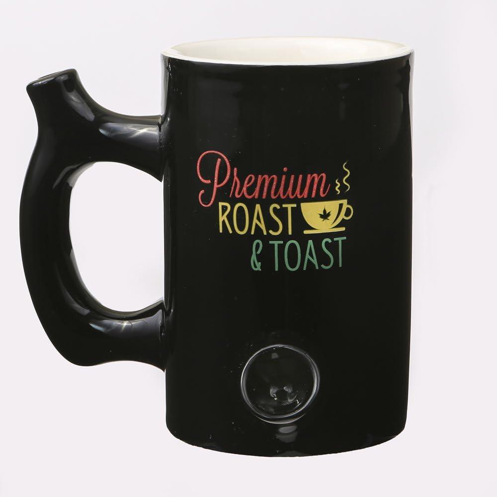 Premium Roast and Toast Novelty Mug Purple with White Print