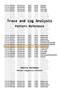Software Trace and Log Analysis: A Pattern Reference