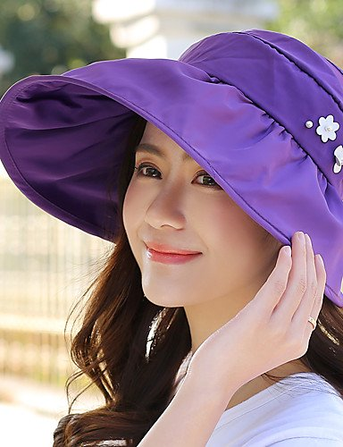 Cap GSM Decoration Waterproof Outdoor Caps BLUSHINGPINK Summer Women Sun Beach Flower Cycling Empty ONESIZE Foldable Travel Travel 6Rqw6r