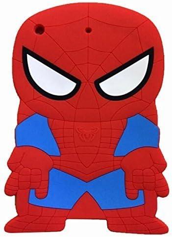 iPad Mini Case,Phenix-Color 3D Cute Soft Silicone [Drop Proof,Shock Proof,Anti Slip] Cartoon Gel Rubber Back Cover Case for iPad Mini 1 2 3 (Spider-Man)