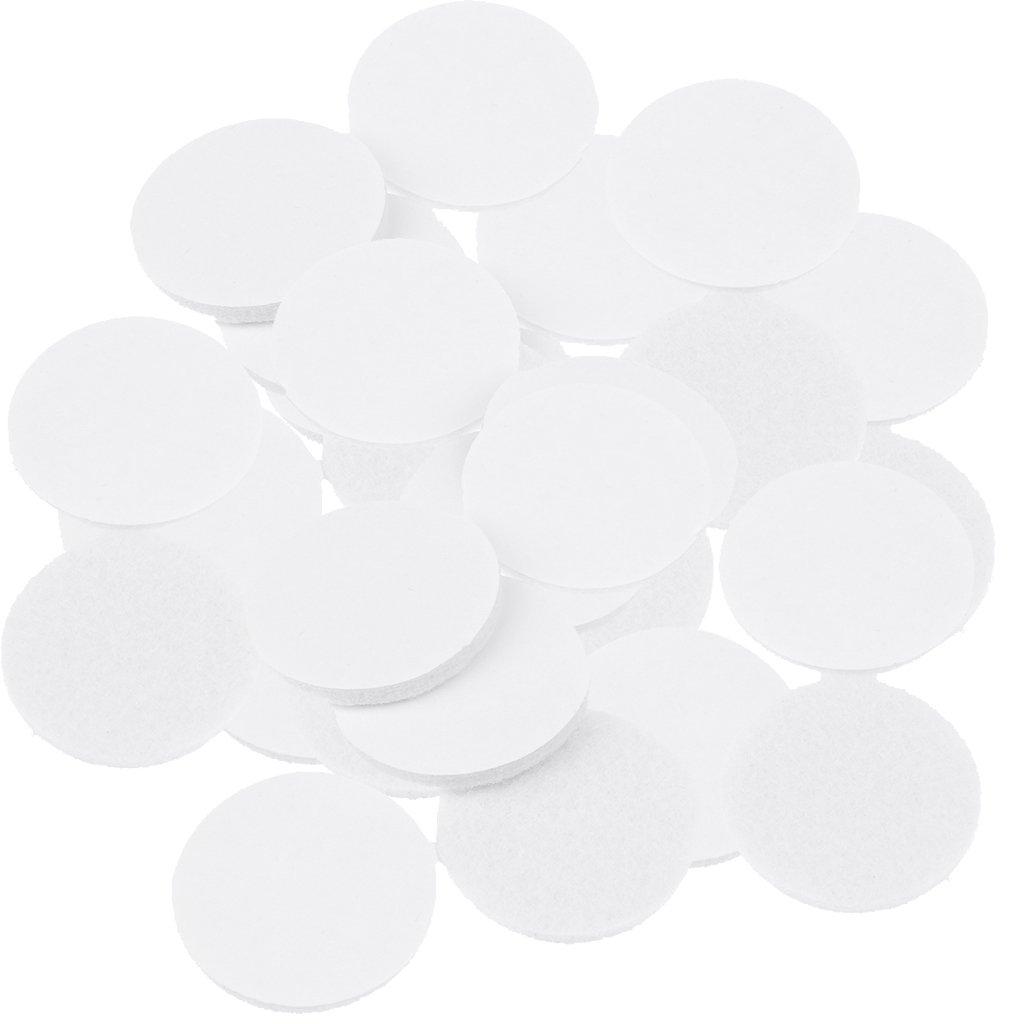 Sharplace 50 Pezzi Tappetini di Feltro Autoadesivo Pellicole Protettivi per Mobili Portafermo Bianco