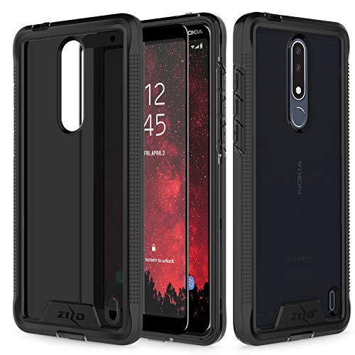 Zizo Ion Series Compatible with Nokia 3.1 Plus Case Military Grade Drop Tested with Tempered Glass Screen Protector Black Smoke