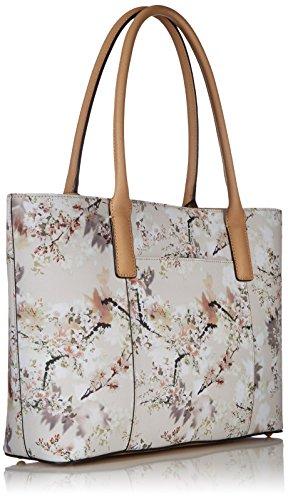 187 Calvin Klein Key Item Saffiano Printed Tote White Floral