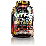 MuscleTech NitroTech Whey Gold, 100% Pure Whey Protein, Whey Isolate and Whey Peptides, Cookies and Cream, 5.5 Pounds
