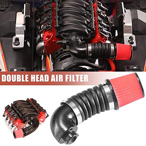 Dubleir Silicone Car Air Intake Filter Systems Inlet Pipe Single Simulate Air Intake Pipe Tube: