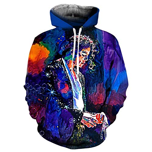 Men Women Michael Jackson Thriller Jacket 3D Printing Sweatshirt Hooded Streetwear,XXXXX-Large,BillieJean ()