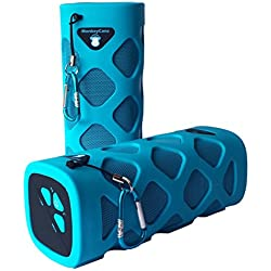 Waterproof Outdoor Portable Bluetooth Speaker by MonkeyCanz - 10W Rugged Wireless Speaker with 12 Hour Playback, Compatible with Smartphones, Tablets and MP3 Devices (Blue)