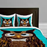 Deny Designs  Mandy Hazell Owl Love You Duvet Cover, Queen