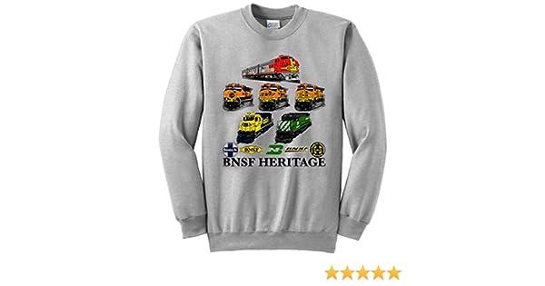 Amazon.com  BNSF Heritage Authentic Railroad Sweatshirt  Clothing 0c2c27a559b9