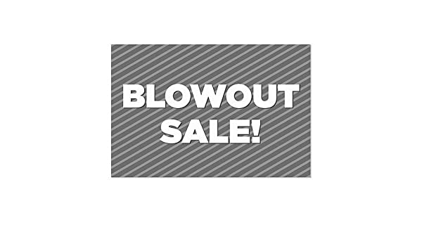 CGSignLab 24x24 Black Friday Blowout 5-Pack Nostalgia Stripes Window Cling