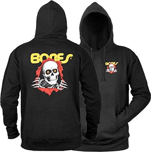 Powell Peralta Ripper Black X-Large Hooded Sweatshirt by Powell-Peralta