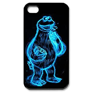 Exquisite Customized Funny Lovely Cookie Monster Iphone 4 4s Case Cover ,Plastic Shell Hard Back Cases For Fans At CBRL007