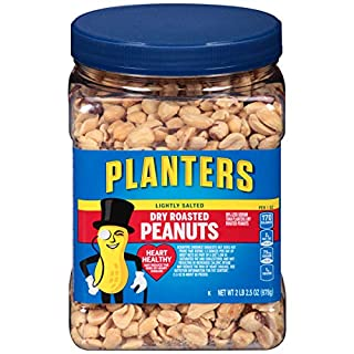 Planters Lightly Salted Dry Roasted Peanuts (34.5 oz Jars, Pack of 6)