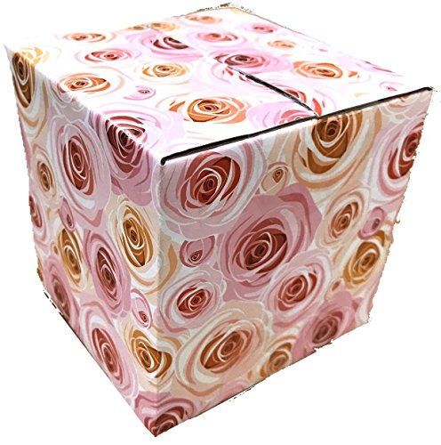 25 4x4x4 Rose Designer Boxes corrugated Cardboard Box Shipping Cartons Mailers Roses Custom Printed Containers 4